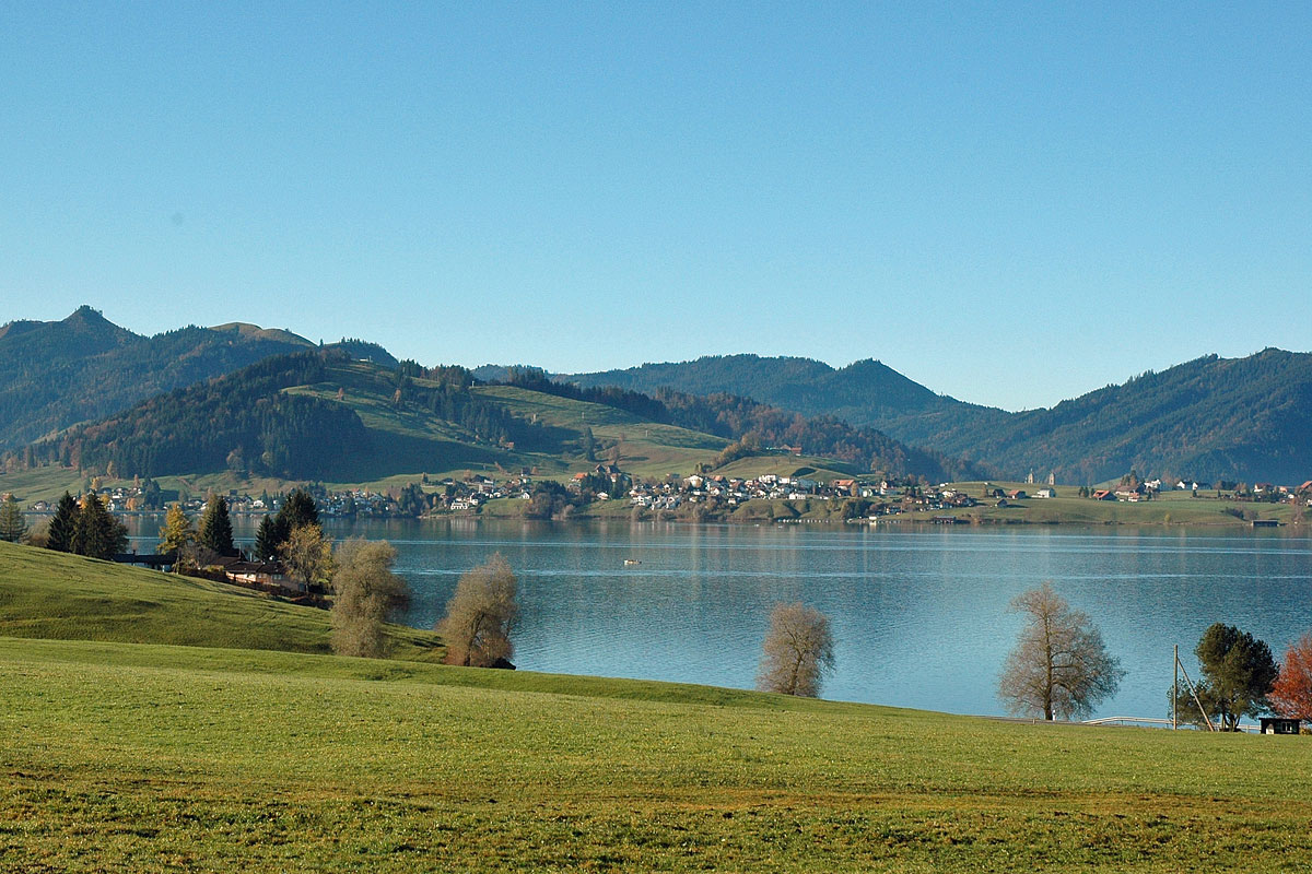 View on the Sihlsee